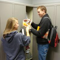Commuters Use the Commuter Lockers in the Ohio Union